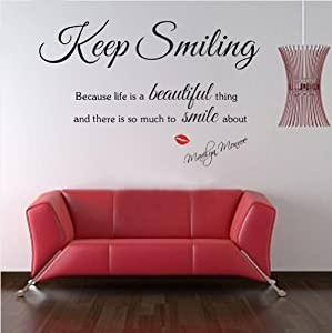 Sexy Lady MARILYN MONROE Quote Wall Sticker Art Decal Home Decor Vinyl Mural from Other