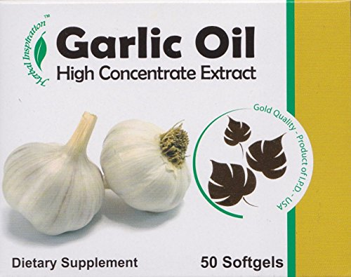 Garlic Oil, High Concentrated Extract Dietary Supplement 50 Softgels. (4 Pack).. Hpvagr