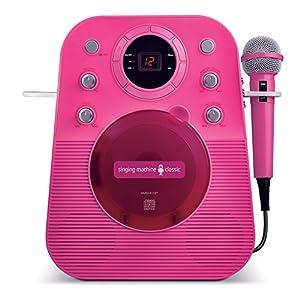 The Singing Machine SMG303P Portable Mini Plug N Play Karaoke CDG Player (Pink)