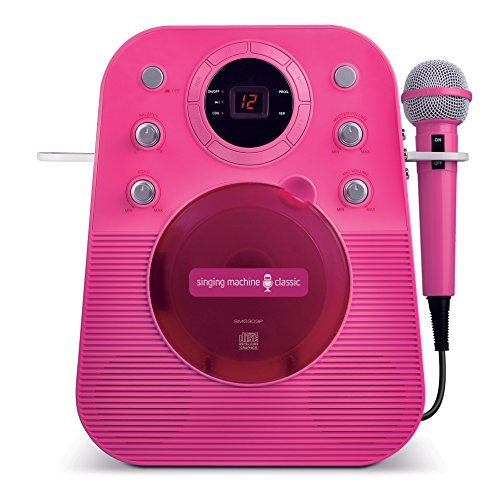 Fantastic Deal! The Singing Machine SMG303P Portable Mini Plug N Play Karaoke CDG Player (Pink)