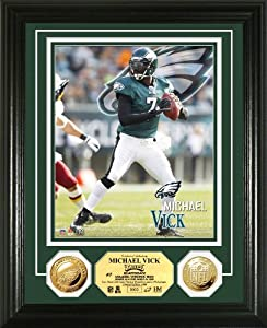 NFL Philadelphia Eagles Michael Vick Gold Coin Photo Mint by Highland Mint