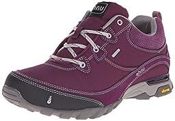 Ahnu Women\'s Sugarpine WP Hiking Shoe, Black Aubergine, 10 M US