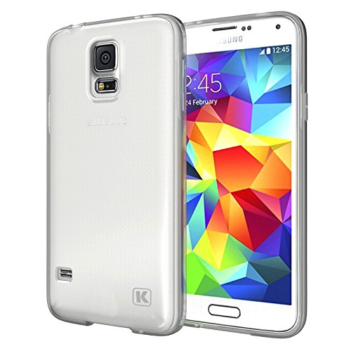 KAYSCASE Slim Soft Gel Cover Case for Samsung Galaxy S5 Smart Phone (Lifetime Warranty) (Frost Clear)