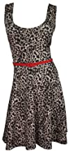 Libian Jr Plus Size Leopard Print Retro Dress