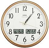 CASIO (カシオ) 掛け時計 WAVE CEPTOR 電波時計 アナログ 温度計 湿度計 ITM-200J-5JF パールブラウン