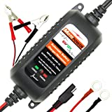 MOTOPOWER MP00205 6V / 12V .75A Fully Automatic Battery Charger / Maintainer for Cars, Motorcycles, ATVs, RVs, Powersports, Boat and More. Smart, Compact and Eco Friendly