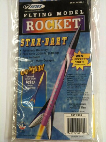 #2170 Estes Star-Dart Flying Model Rocket ,Needs Assembly