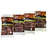 Classic Exotic Jerky Sampler Pack - TESTER 4 PACK - 4 Types of Wild Game Jerky (Venison Jerky, Buffalo Jerky, Wild Boar Jerky and Elk Jerky) - No Added Preservatives, No Added Nitrates and No Added MSG - 4 total oz.