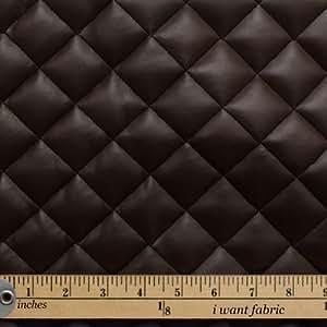Tissu coussin matelass losange marron chocolat simili - Cuero para tapizar ...