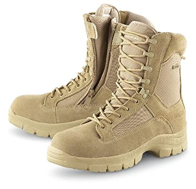 "Men's Guide Gear 8"" Waterproof Side - zip Desert Boots Desert Tan, DESERT, 8.5M"