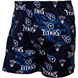 Tennessee Titans Keynote Printed Knit Boxer Shorts Navy Blue at Amazon.com