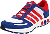 adidas Men's La Trainer M Running Shoe,Running White/Red/Collegiate Royal,13 D US