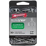 Arrow RLFA3/16IP Long Large Flange Aluminum 3/16-Inch Rivets, 30-Pack