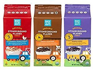 Back to the Roots Organic Stoneground Flakes Cereal Variety Pack, 6 Count