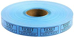 The Coin-Tainer Co. Single Raffle Ticket Roll, 2000 Count, Blue (602603B) by The Coin-Tainer Co.