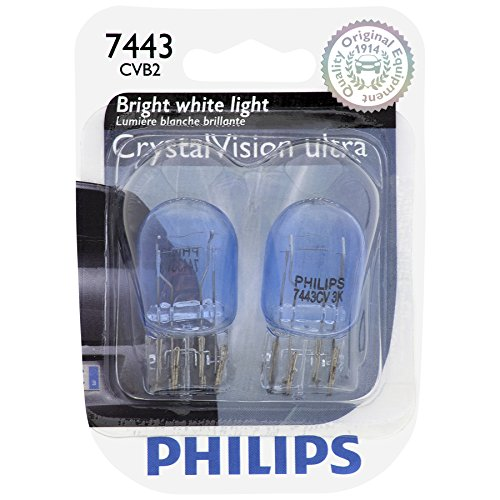 Philips 7443 CrystalVision ultra Miniature Bulb, 2 Pack (7443 Bulb Philips compare prices)