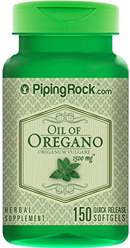 Oil of Oregano 1500 mg 150 Liquid Capsules (Oregano Oil Extract Capsules compare prices)