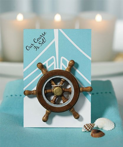 Our-Course-is-Set-Boat-Wheel-Magnet-Favor-Gift