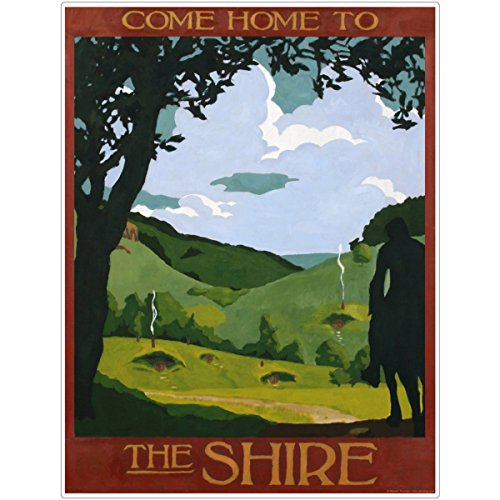 Shire Lord of the Rings Wall Decal 9 x 12 Hobbit Home Theater Decor
