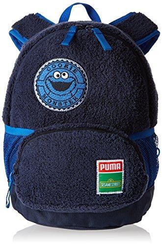 puma-sesame-street-s-unisex-kinder-kinderrucksack-blau-bleu-peacoat-cookie-monster-grosse-taille-uni