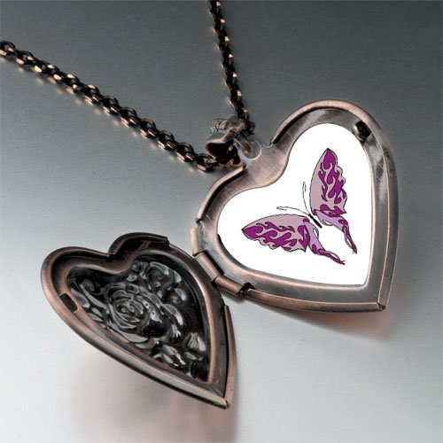 Shades Purple Butterfly Pendant Necklace