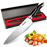 Bluesim Chef's Knife,Stainless Steel 7.5 inch Sharp High Carbon Steel Chef's Knife with Gift Box
