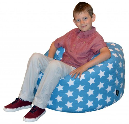 Gilda® Childrens Bean Bag BLUE STARS COTTON - ideal kids Beanbag Chair Great Extra Seating other colors available in our Amazon store