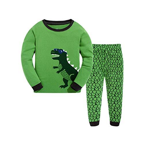 Tkria - Pigiama a maniche lunga per ragazzi - Dinosauro Pigiama Set