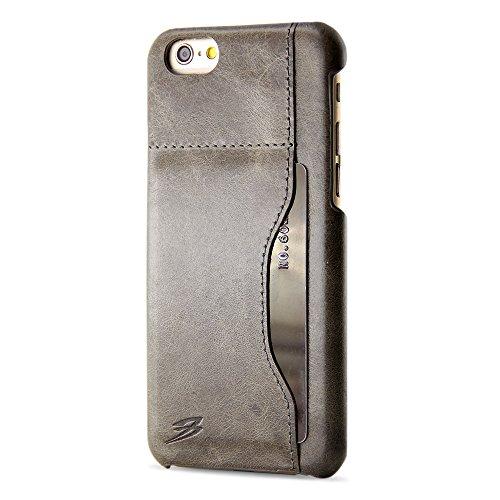 iPhone 6S caso PLUS, BELK [cucitura ADEPT] Serie - verticale della scheda di memoria + Dual strato di protezione per iPhone 6S PLUS, 5,5 (2015 SEP) - iPhone 6S PLUS Custodia grigia scura