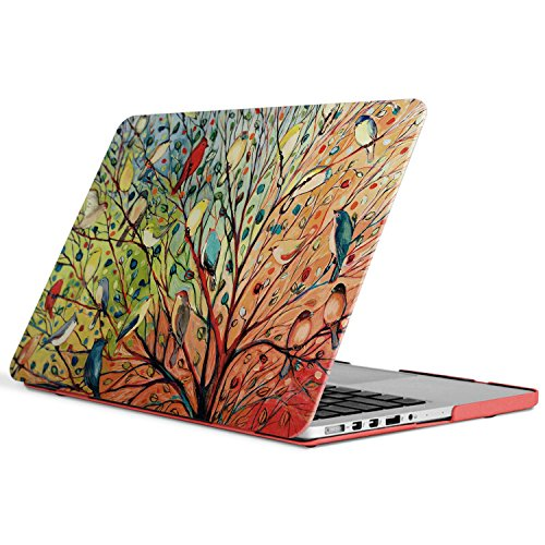 iCasso New Art Fashion Image Series Ultra Slim Light Weight Rubberized Hard Case Glossy Clear Crystal Snap-On Hard Cover Case for MacBook Pro 13 inch Retina (Model: A1425/A1502) - Birds (Macbook Pro 13 In Cover compare prices)