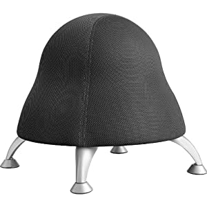 Safco Products Runtz Ball Chair, Black