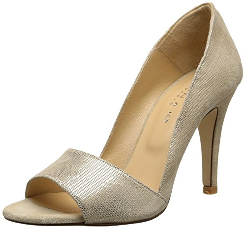 JonakAurelie - Scarpe con Tacco Donna , Oro (Or (Velours Laminé/Or)), 40