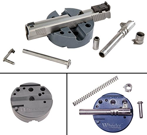 Wheeler 672215 Universal Bench Block + Ultimate Arms Gear Bench Gun Mat Ruger 10/22 10-22 10 22 + 8pc Steel Pin Punch Tool Set + Brass Head Hammer + 3-Double Ended Brushes + 2-Curved Picks from Ultimate Arms Gear