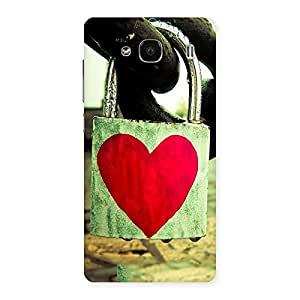 Ajay Enterprises Lock Of Love Back Case Cover for Redmi 2 Prime
