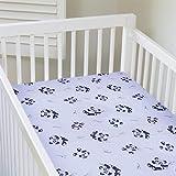 My Baby Panda Design Crib Sheet, White