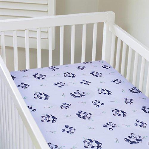 My Baby Panda Design Crib Sheet, White front-27449