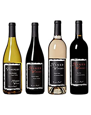 "Naked Winery ""Best Sellers"", Oregon Wine, Bundle, Mixed Pack, 4 x 750 mL from Naked Winery"