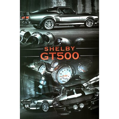 Ford Shelby Mustang (GT500, Collage) Art Poster Print