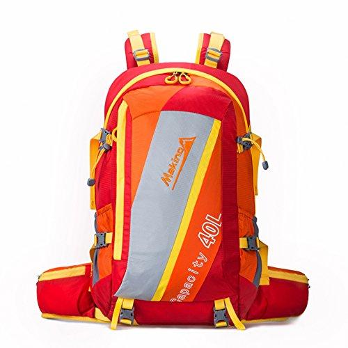 escalade extérieure sac / hommes et femmes épaules alpinisme sac à dos / extérieur sac à dos Voyage-Gros rouge 40L