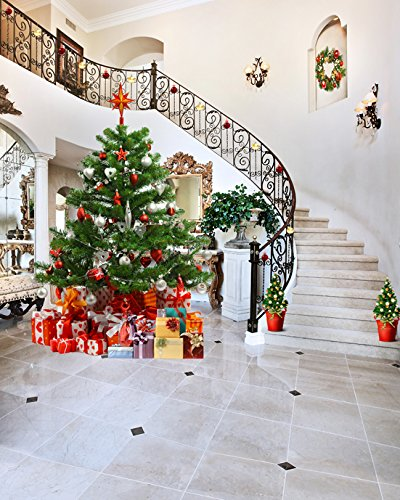 65-Ft5-Ft-200cm150cm-Polyester-Cotton-Indoor-Christmas-Tree-Gifts-Flame-Decorations-Photo-Background-Seamless-Waterproof-Printed-Photography-Backdrop