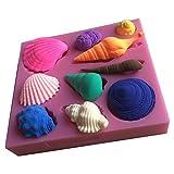 Karen Baking Schöne Sea Shell und Conch-Form 3D Silikon Backform für Kuchen-Fondant Dekorieren -