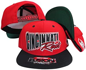 Cincinnati Reds Red Black Fusion Angler Snapback Hat Cap by American Needle