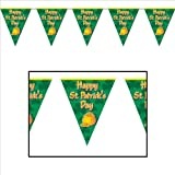 Happy St Patrick s Day Pennant Banner Party Accessory (1 count) (1 Pkg)