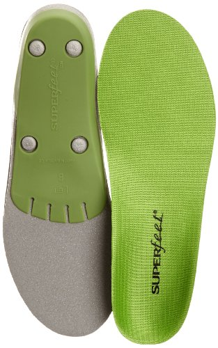Superfeet Green Premium Insoles,Green,D: 8.5 - 10 US Womens/7.5 - 9 US Mens