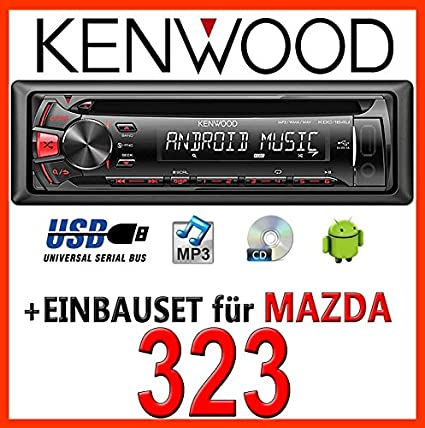 Mazda 323 kenwood kDC - 164 uR autoradio cD/mP3/uSB avec kit de montage