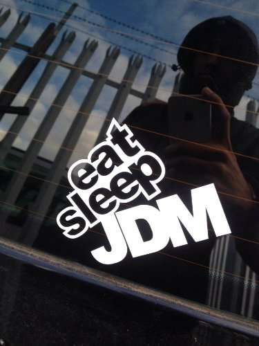 EAT SLEEP JDM Decal / Vinyl / Sticker (COLOUR OF YOUR CHOICE)