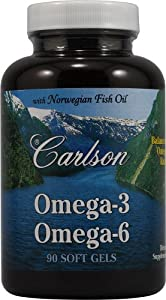 Carlson Labs Omega-3 Plus Gla Mineral Supplement Softgels, 90 Count