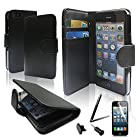 SQdeal ® Premium Stylish Pu Leather Folio Case Cover Skin w/ Back Stand for Apple Iphone 5 5th Gen (At&t