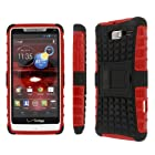 Motorola DROID RAZR M Case, MPERO IMPACT SR Series Kickstand Case for Motorola DROID RAZR M XT907 - Black / Red