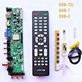 Xennos Z.VST.3463.A1 V56 V59 general DS.D3663LUA.A8-1-A LCD Driver Board Support DVB-T2 TV Board+7 Key Switch+IR+LVDS+remate control - (Plug Type: T2)